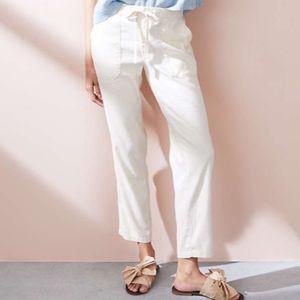 NWT Gap Linen Drawstring Pants Size Medium